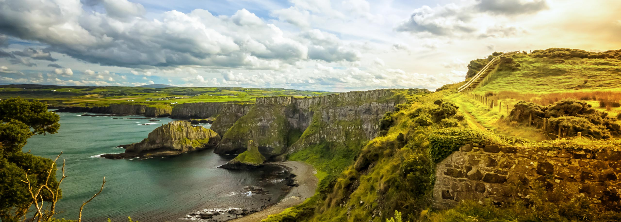 car hire rentals ireland country side