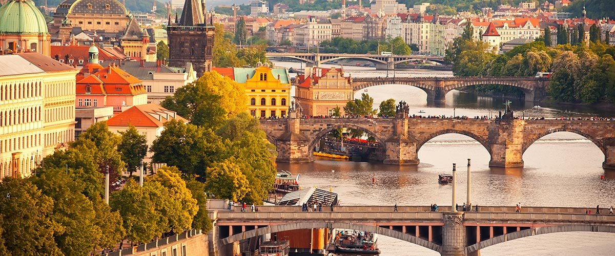 car hire rentals Czech Republic city river bridges