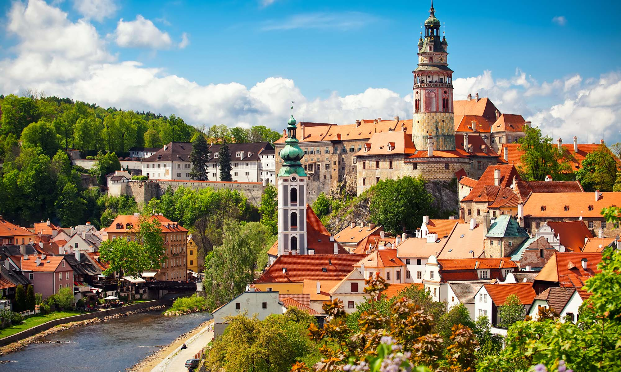 car hire rentals Czech Republic orange roof town