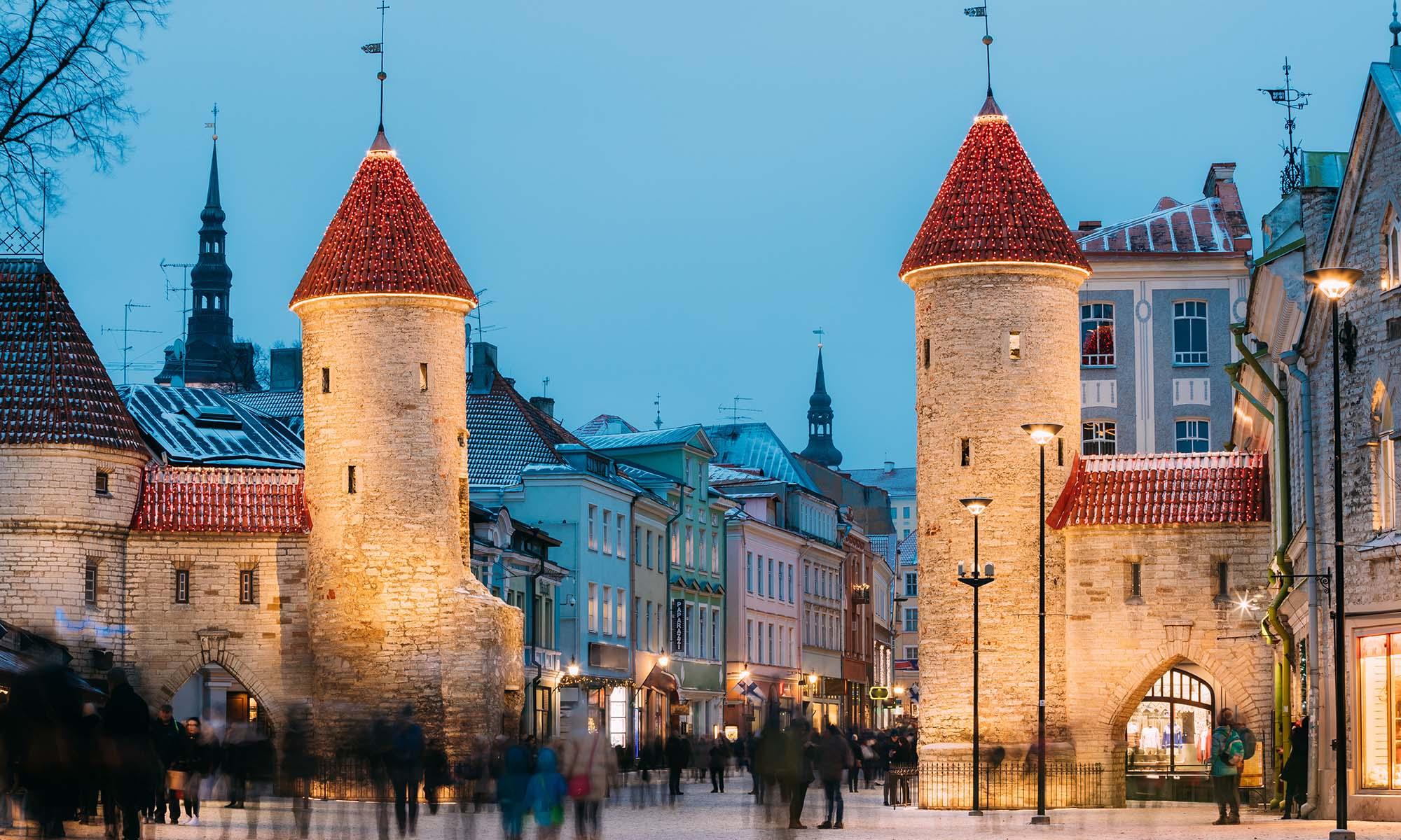 car hire rentals Estonia old city towers