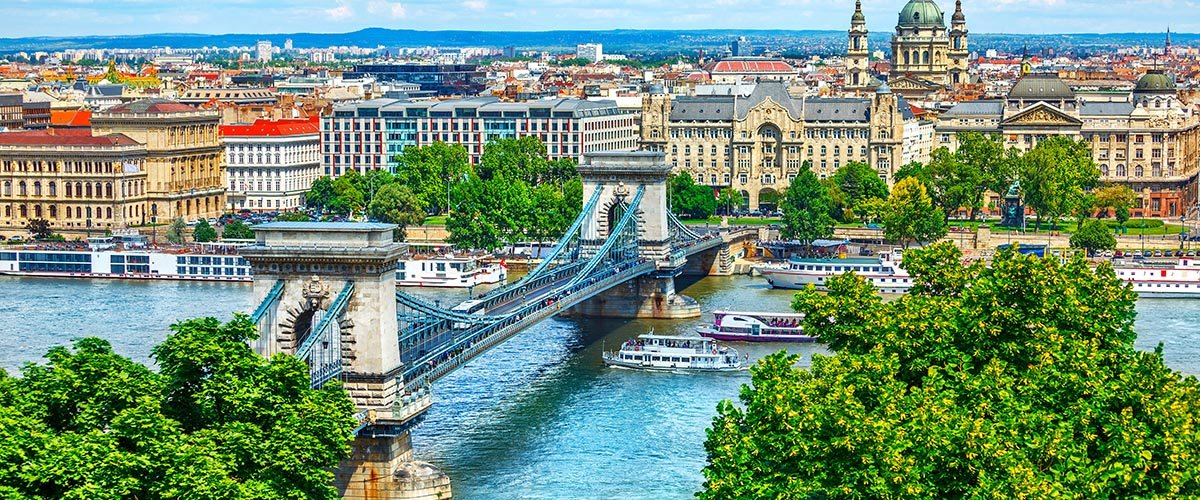 car hire rentals Hungary city river bridge