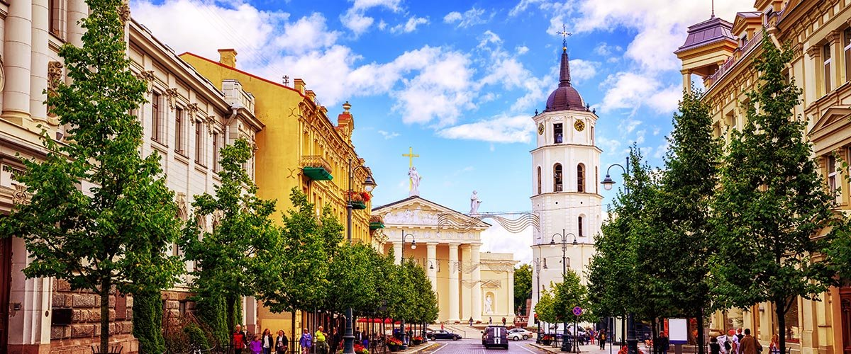 car hire rentals Lithuania city street