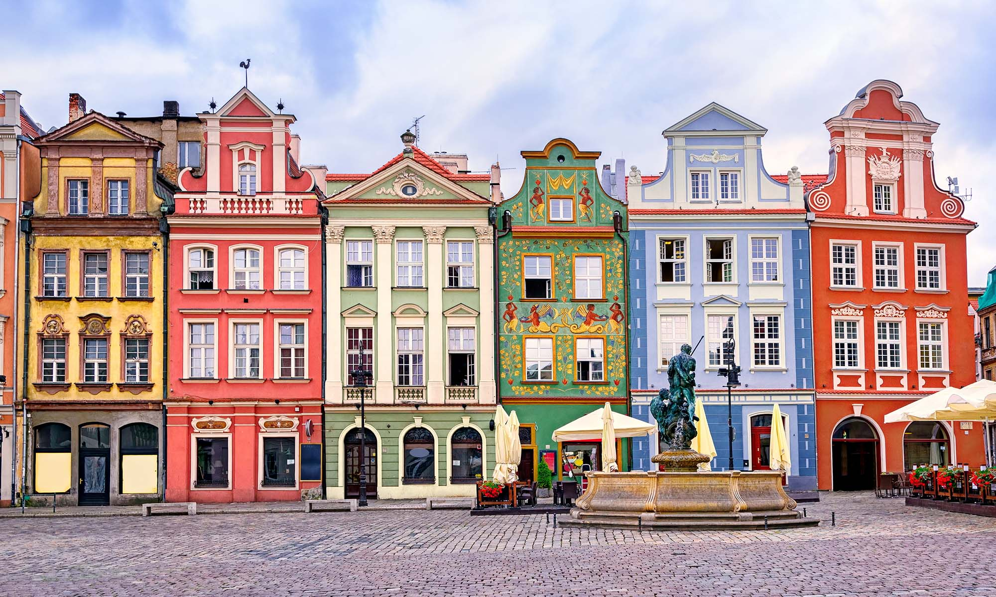 car hire rentals Poland colorful houses