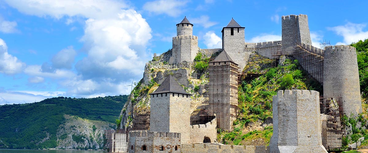 car hire rentals Serbia castle