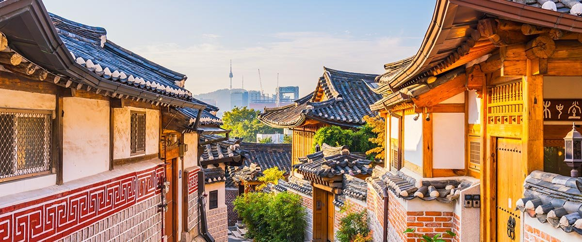 car hire rentals South Korea old roofs