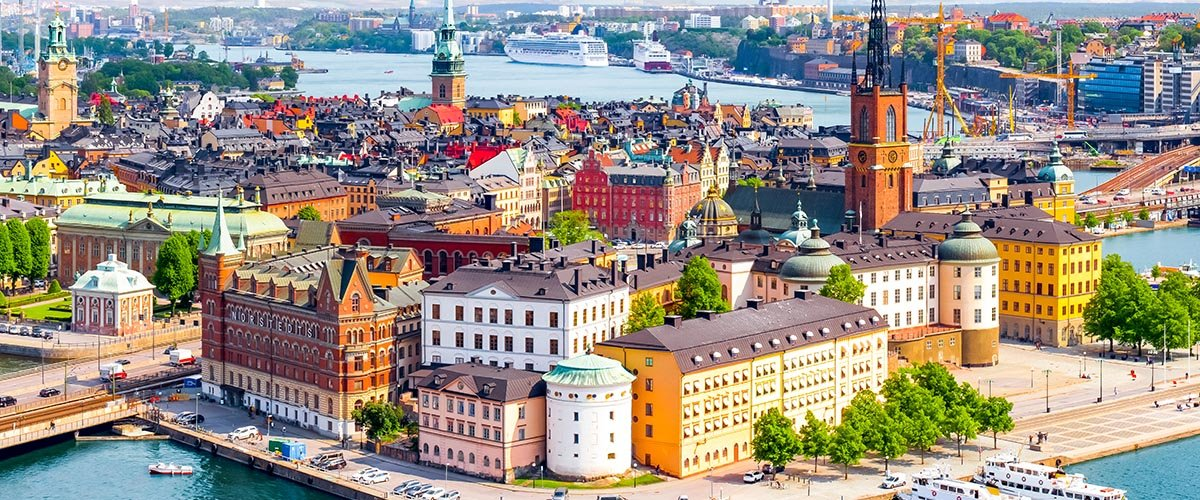 car hire rentals Sweden city from air