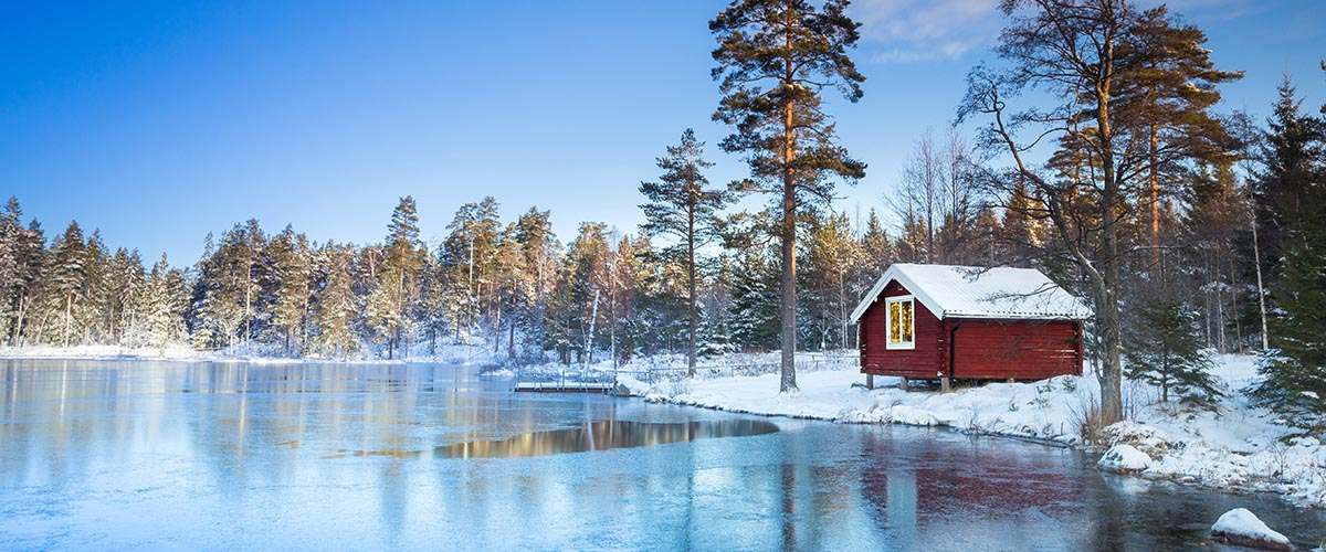 car hire rentals Sweden frozen lake