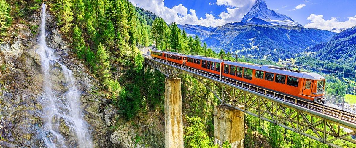 car hire rentals Switzerland train