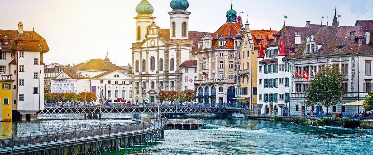 car hire rentals Switzerland city river
