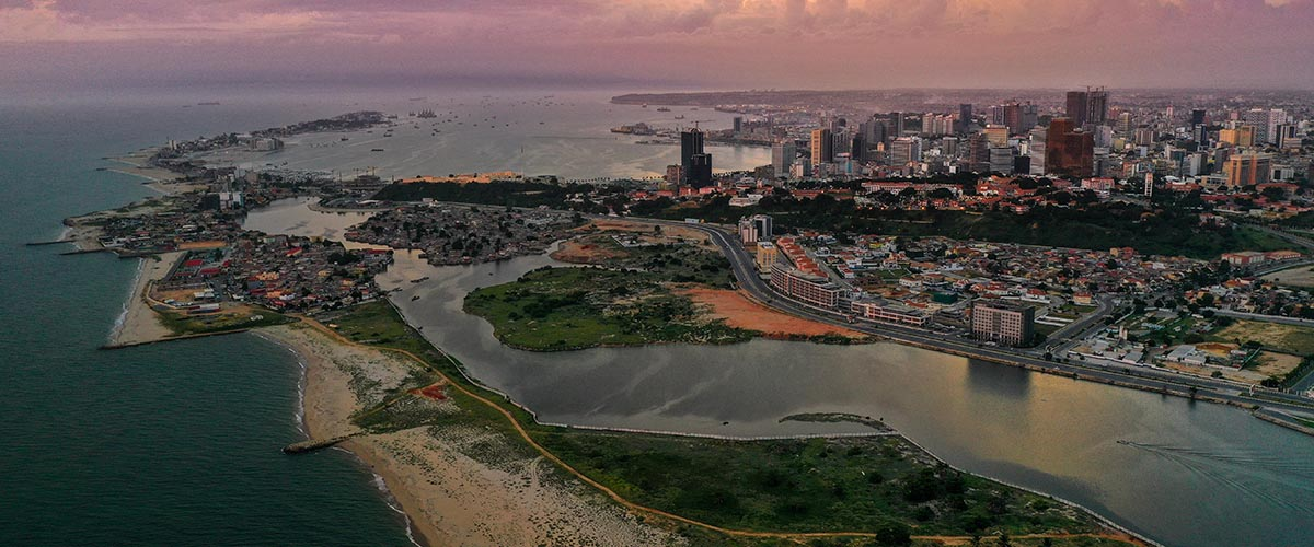 car hire rentals angola city beach from the air