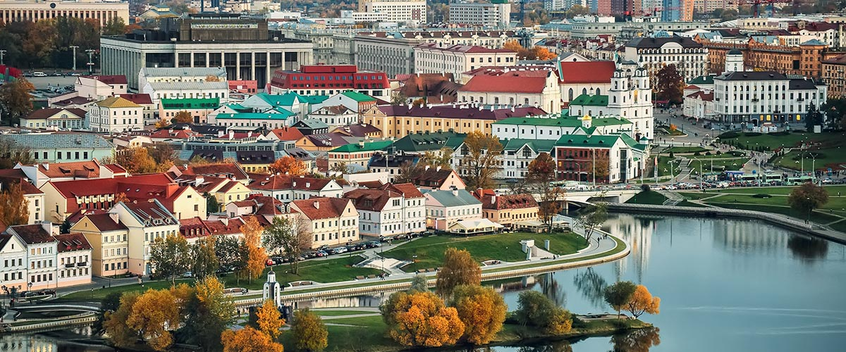 car hire rentals belarus city houses by river